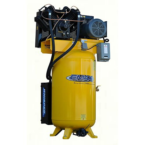 Industrial Plus Silent Air 10 HP 1-Phase 80 gal Vertical Industrial Electric Air Compressor
