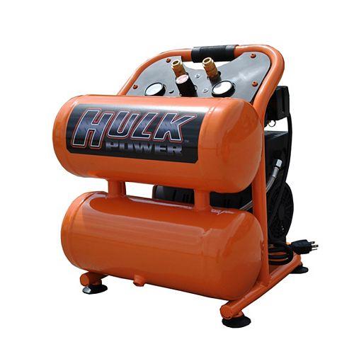 Hulk 1hp 4 Gal. Silent Air Portable Compressor