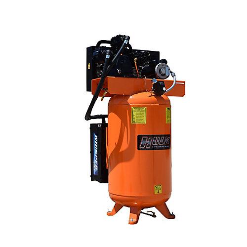 Compresseur électrique stationnaire Hulk par Silent industriel 5cv 1phase 80 Gal.(302.8L)