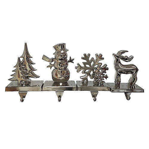 Silver Christmas Stocking Holder (Assorted Styles)