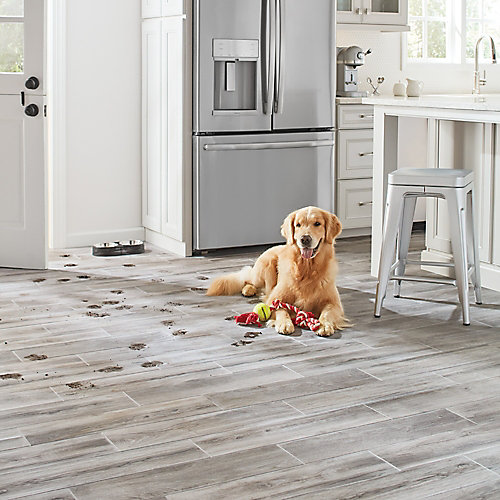 Shadow Wood 6-inch x 24-inch Glazed Porcelain Floor and Wall Tile
