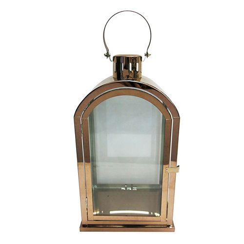 14.75-inch Bronze LED Candle Lantern Christmas Decoration