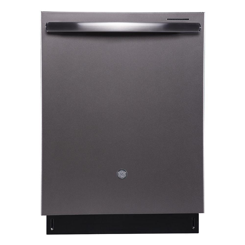 GE Profile Lave-vaisselle encastré de 24 po à cuve haute en ardoise avec cuve en acier inoxydable - ENERGY STAR