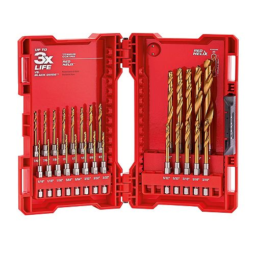 SHOCKWAVE Titanium Drill Bit Set (26-Piece)