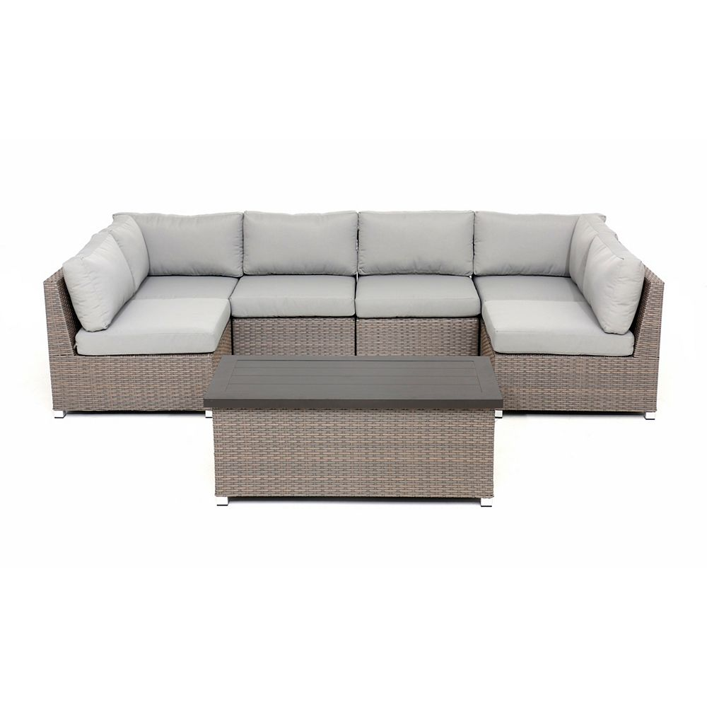 Think Patio Chambers Bay Collection 7.2 with Grey Cushions