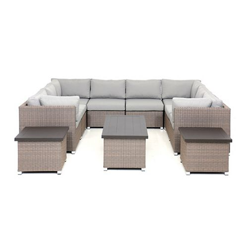 Chambers Bay Collection 11.1 Patio Conversation Set with Grey Cushions