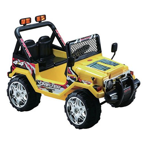 12V Jeep Wrangler Ride-On Toy in Yellow