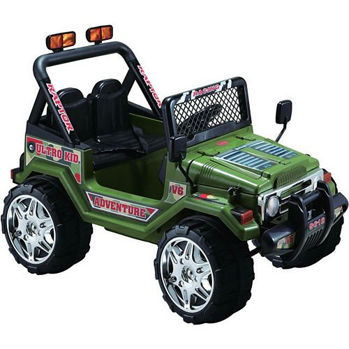 Jeep Wrangler 12V Ride-On Toy in Green