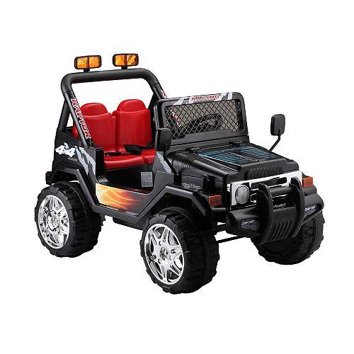 Black 12V Ride on Jeep Wrangler