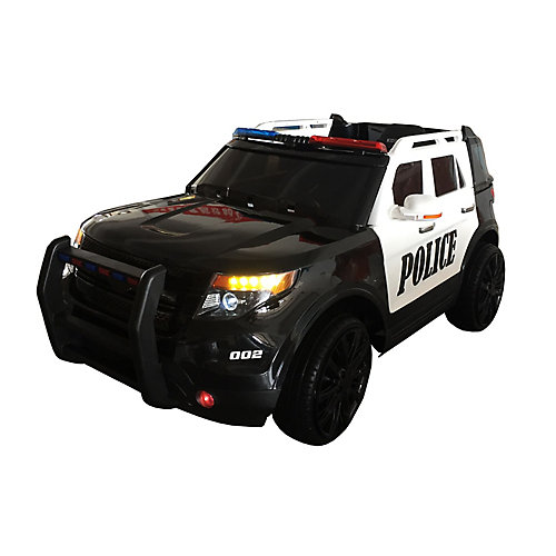 Police Cruiser 12V Ride-On Toy Car
