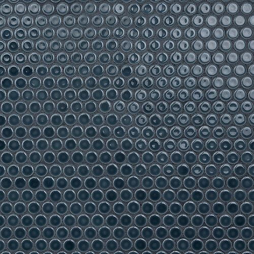 Merola Tile Hudson Penny Round Storm Grey 12-inch x 12-5/8-inch x 5 mm Porcelain Mosaic Tile(10.74 sq.ft. / case)
