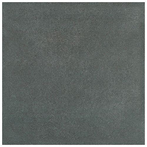 Twenties Black 7-3/4-inch x 7-3/4-inch Ceramic Floor and Wall Tile (11.11 sq.ft. / case)