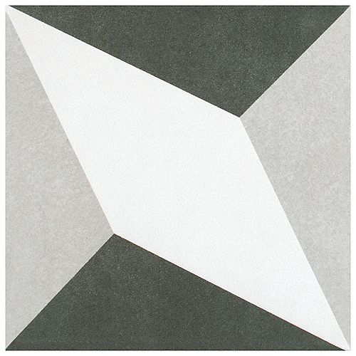 Merola Tile Twenties Diamond 7-3/4-inch x 7-3/4-inch Ceramic Floor and Wall Tile (11.11 sq.ft. / case)