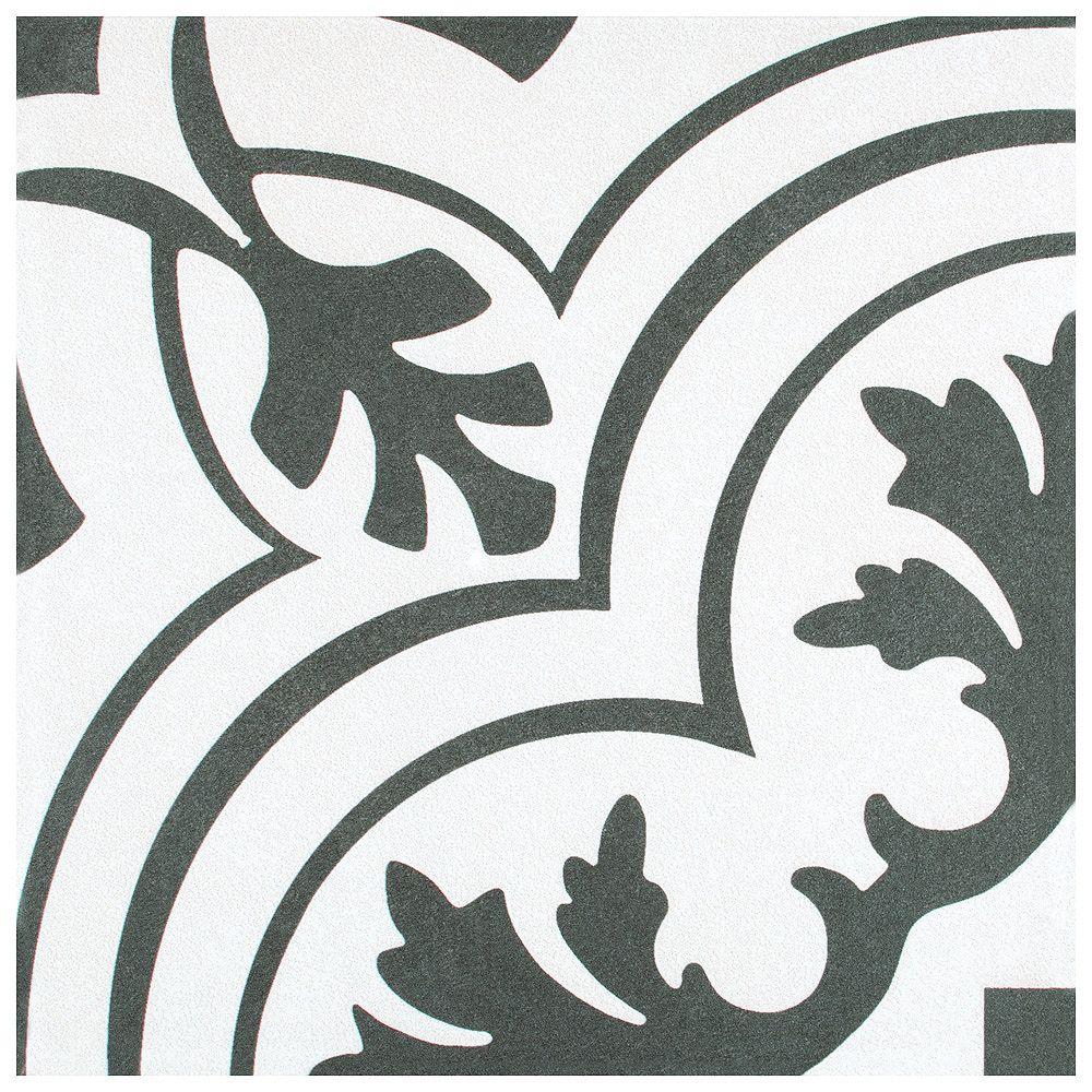 Merola Tile Carreau en céramique pour sol/mur Twenties Vintage 7 3/4 po x 7 3/4 po (11,11 pi2/boîte)