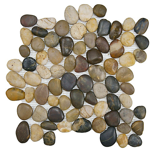 Riverstone Multi 11 3/4-inch x 11 3/4-inch x 12mm Natural Stone Mosaic Tile (9.79 sq. ft. / case)