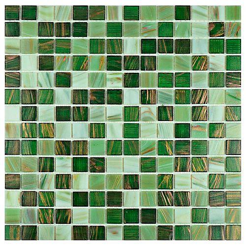 Merola Tile Carreau de mosaïque en verre Coppa Forest 12 po x 12 po (13,27 pi2/boîte)