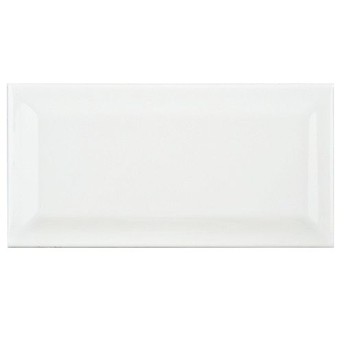 Park Slope Beveled Subway Glossy White 3-inch x 6-inch Ceramic Wall Tile (19.18 sq. ft. / case)