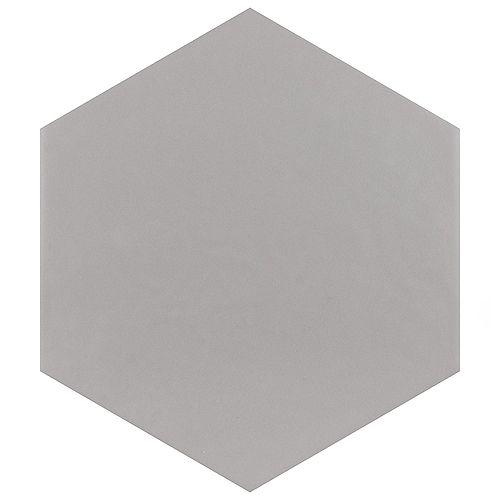Hexatile Matte Gris 7-inch x 8-inch Porcelain Floor and Wall Tile (7.67 sq. ft. / case)