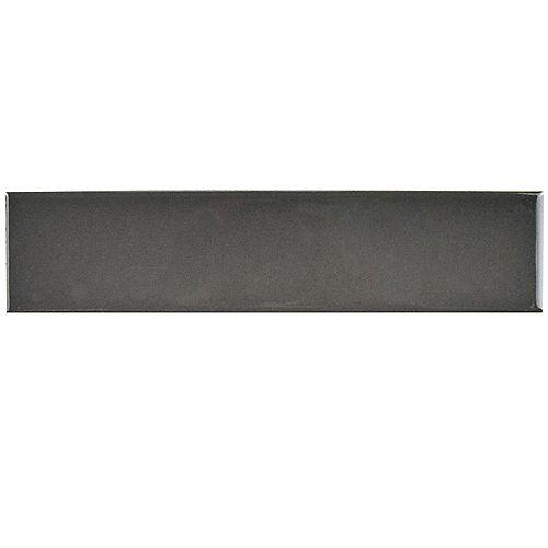 Merola Tile Carreau en porcelaine pour sol/mur Metro Soho Subway gris lustré 1 3/4po x 7 3/4po (9 pi2/boîte)