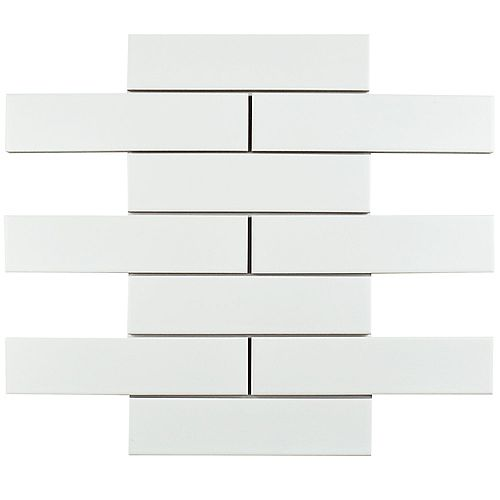 Metro Soho Subway Matte White 1-3/4-inch x 7-3/4-inch Porcelain Floor and Wall Tile(9 sq. ft. / case)