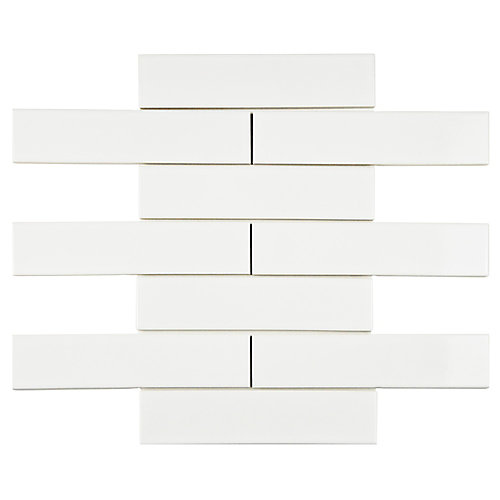 Metro Soho Subway Glossy White 1-3/4-inch x 7-3/4-inch Porcelain Floor and Wall Tile (9 sq. ft. / case)