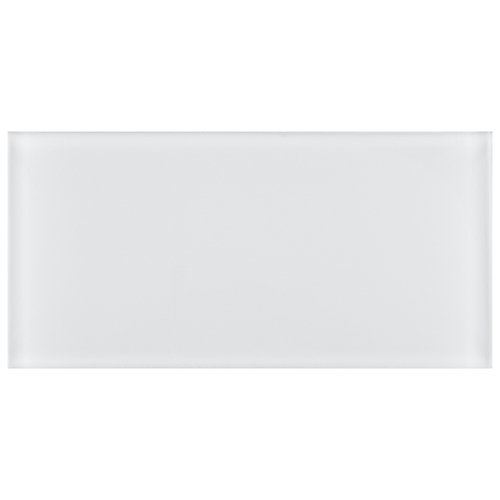 Tessera Subway Ice White 3-inch x 6-inch Glass Wall Tile (10 sq. ft. / case)