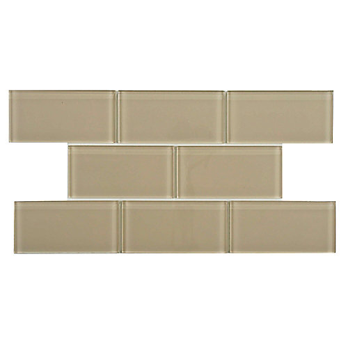 Tessera Subway Sandstone 3-inch x 6-inch Glass Wall Tile (8 sq. ft. / case)