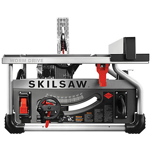 15 amp Corded Electric 10-inch Portable Worm Drive Table Saw Kit with 30-Tooth Diablo Carbide Blade