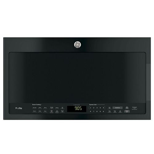 GE Profile 30-inch W 2.1 cu.ft Over the Range Microwave in Black
