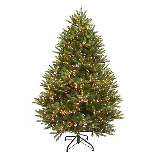 6.5 ft. 2000-Light LED Douglas Fir Tree in Warm White 7 Functions