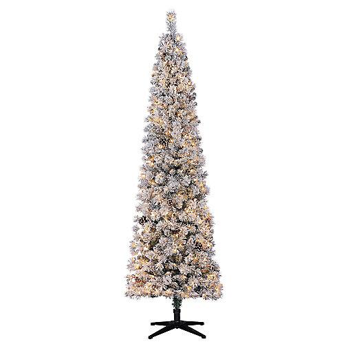 Pin de Noël Lexington artificiel en forme de crayon de 7,5pi pré-illuminé avec 250à DEL blanc chaud