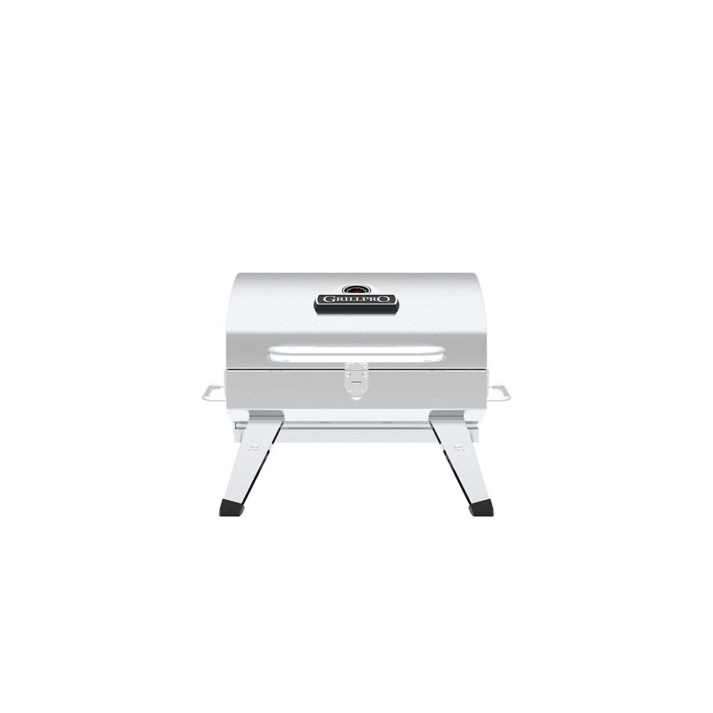 GrillPro Table Top Portable Charcoal BBQ in Stainless Steel