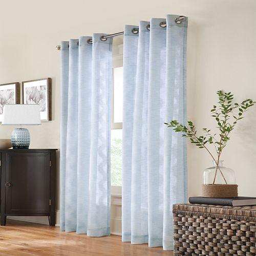 Home Decorators Collection Cordelia, Voilage, Panneau à oeillets 132 cm x 213 cm Bleu Clair