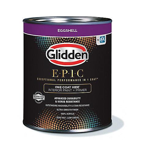 EPIC One Coat Hide Interior Paint + Primer Eggshell White 916 mL