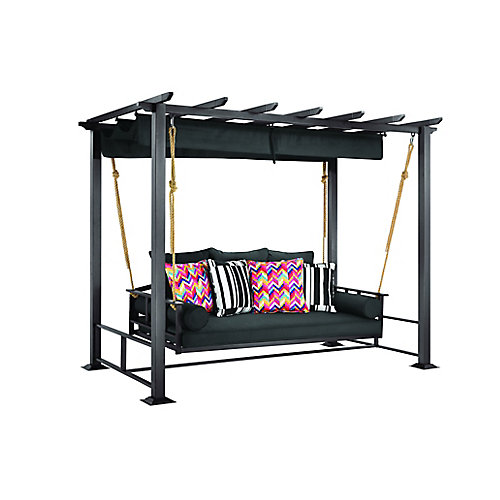 Pacific Landing Steel/Aluminum Swing with Flat Canopy