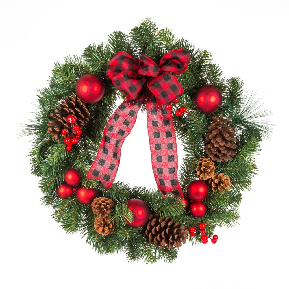 24 inch Red Christmas Wreath