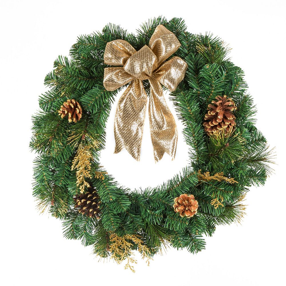 Home Accents 24-inch Gold Christmas Wreath