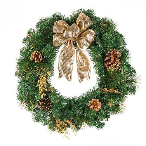 24-inch Gold Christmas Wreath