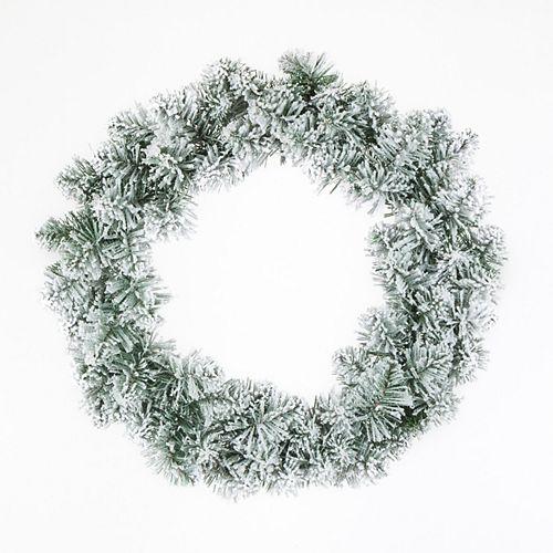 26-inch Flocked Wreath