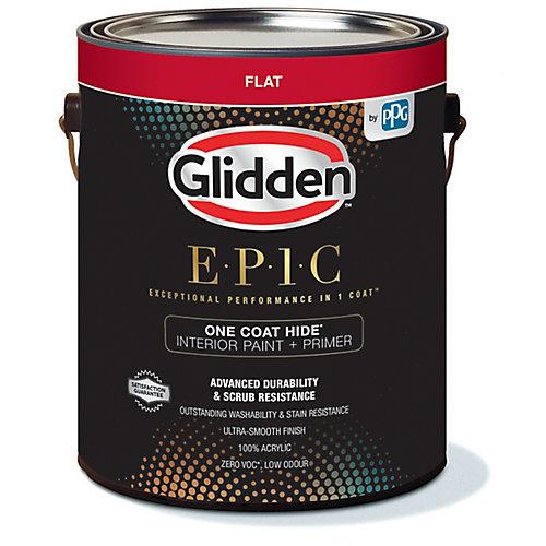 EPIC One Coat Hide Interior Paint + Primer Flat White 3.66 L