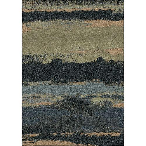 Carpette d'intérieur Canyon Steel Blue, 5 pi 3 po x 7 pi 6 po