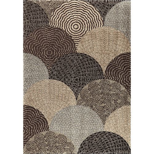 Oystershell Seal Black 7 ft. 10-inch x 10 ft. 10-inch Indoor Area Rug