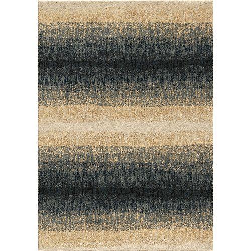 Orian Rugs Carpette d'intérieur Skyline Blue, 5 pi 3 po x 7 pi 6 po
