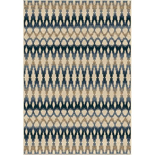 Ikat Ombre Sea Shell 7 ft. 8-inch x 10 ft. 10-inch Outdoor Area Rug