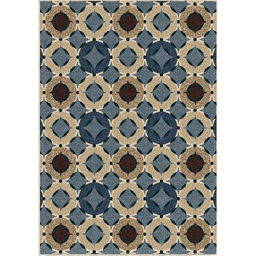 Orbison Saxe Blue 5 ft. 2-inch x 7 ft. 6-inch Outdoor Area Rug