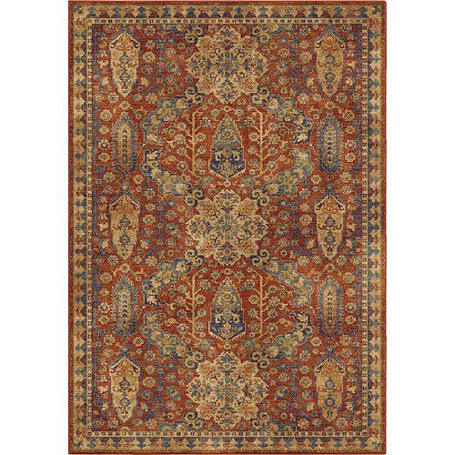 Orian Rugs Carpette d'intérieur Bombay Red, 5 pi 3 po x 7 pi 6 po