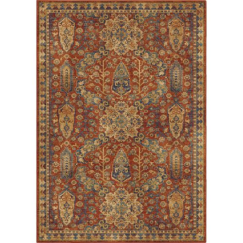 Orian Rugs Bombay Red 7 ft. 10-inch x 10 ft. 10-inch Indoor Area Rug