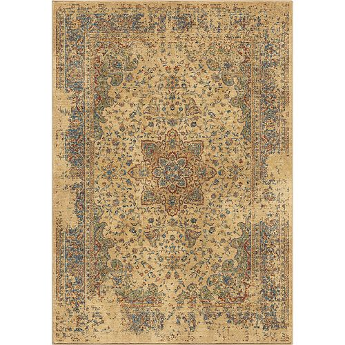 Distressed Regal White 5 ft. 3-inch x 7 ft. 6-inch Indoor Area Rug