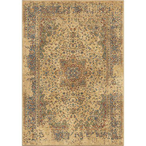 Carpette d'intérieur Distressed Regal White, 7 pi 10 po x 10 pi 10 po
