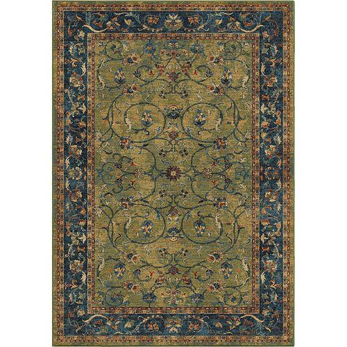 Carpette d'intérieur Zettia Green, 5 pi 3 po x 7 pi 6 po